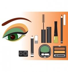 make up eye vector image vector image