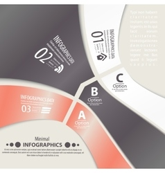 Modern design infographic template Numbered vector image vector image