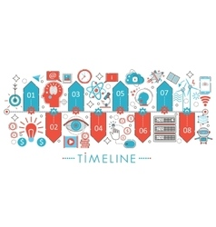 Modern Flat thin Line design Timeline concept for vector image vector image