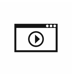 Program for video playback icon simple style vector image vector image