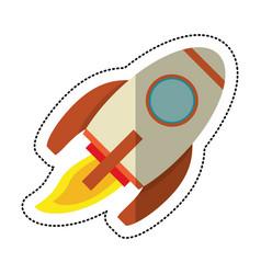 rocket launch space shadow vector image