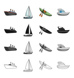 ship steamer sports and other web icon in vector image