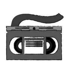 video cassette tape icon image vector image