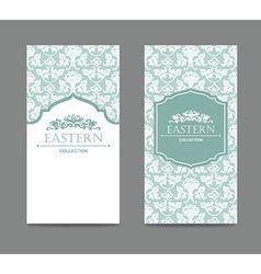 Vintage card design for greeting card vector image