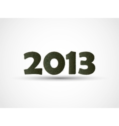 2013 HAPPY NEW YEAR GRASS vector image vector image
