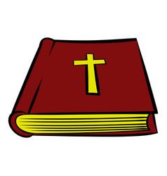 bible book icon icon cartoon vector image