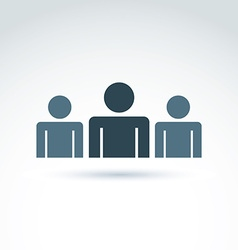 Three silhouettes of people facing forward vector image vector image