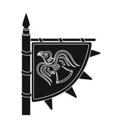 Viking s flag icon in black style isolated on vector image vector image