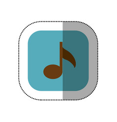 blue symbol music icon vector image vector image