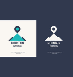 logo and sign for hiking vector image