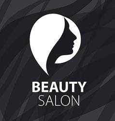 logo for female hair salon vector image