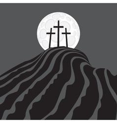 Mount Calvary vector image
