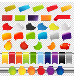 set of color sale stickers and labels vector image vector image