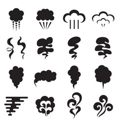 steam icons isolated on a white background vector image