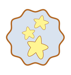 Symbol cuite light stars image vector