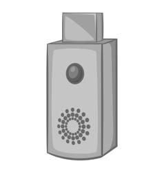 USB flash drive icon black monochrome style vector image vector image