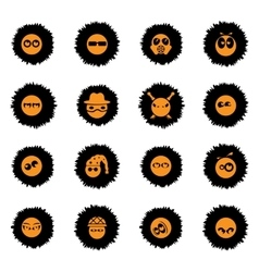 Emotions and glances icons set vector image vector image