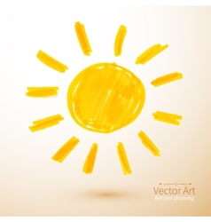 Sun Felt pen drawing vector image vector image