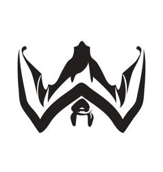 The bat vector image vector image