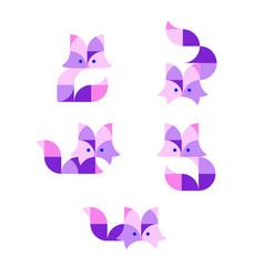 5 cats vector