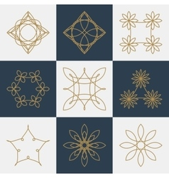 a set monograms vector image