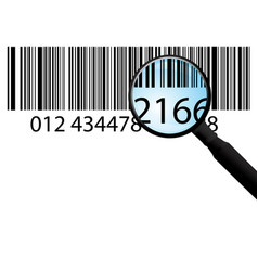 Bar-code on white vector