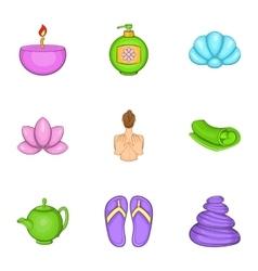 Beauty icons set cartoon style vector image