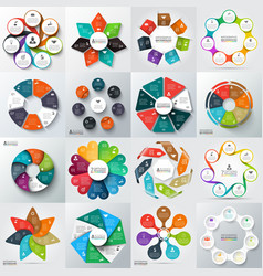 Big set elements for infographic vector image