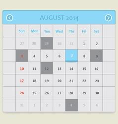 Blue calendar vector image