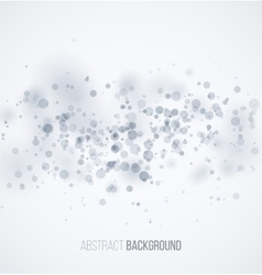 Blue circle sparkles on white blur background vector
