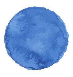 Bright dark blue watercolor painted stain vector