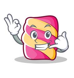 Call me marshmallow character cartoon style vector
