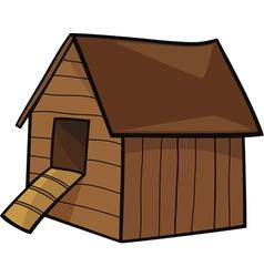 Cartoon of farm hen house vector