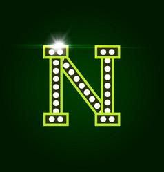 Casino and resort letter n luxury letter vector