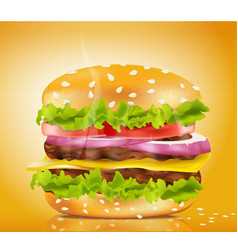 cheeseburger vector image
