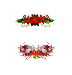 christmas elements for your designs vector image