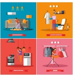Cleaning and home service concept vector