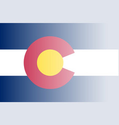 colorado state flag fade background vector image