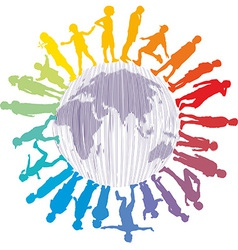 Colorful Children of the World vector image vector image