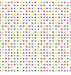 colorful seamless pattern with simple hearts vector image