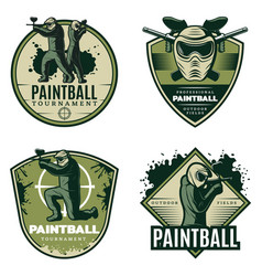 colorful vintage active leisure emblems set vector image