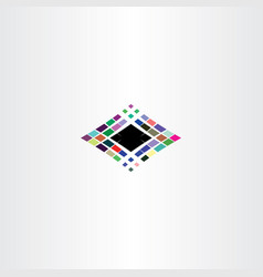 computer data logo abstract colorful squares icon vector image