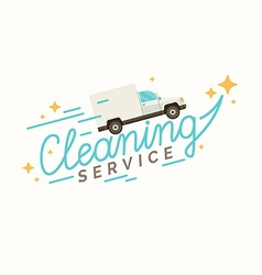 Conceptual poster and the logo for cleaning vector image