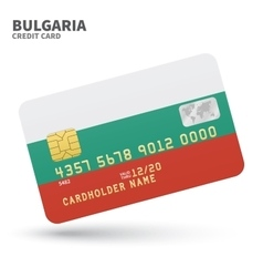 Credit card with Bulgaria flag background for bank vector
