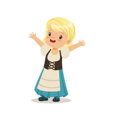 cute girl wearing blue skirt and corset national vector image