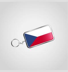 czech republic keychain design vector image