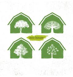 eco barn house creative green design vector image