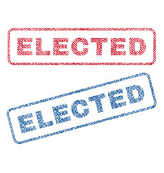 Elected textile stamps vector