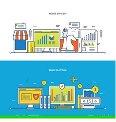 Finance trade platform and commercial analysis vector
