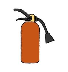 Fire extinguisher equipment vector